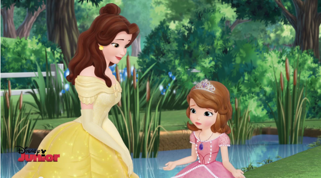 Sofia the First with Belle
