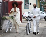 Solange Knowles and Alan Ferguson bike their Wedding