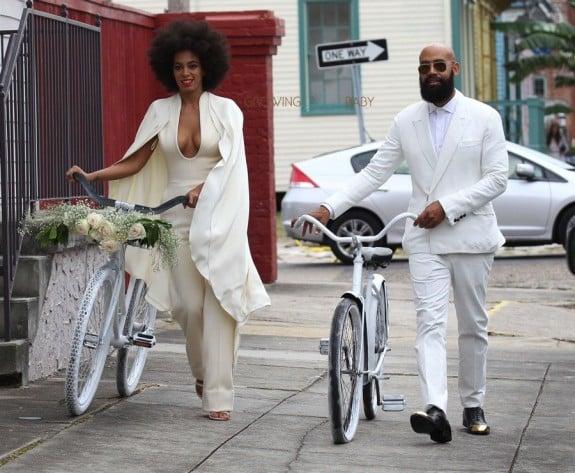 Solange Knowles and Alan Ferguson bike their Wedding