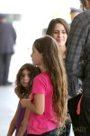 Soleil Moon Frye gets ready for a trip with her daughters at LAX