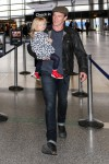 Stephen Moyer at the airport with his daughter Poppy