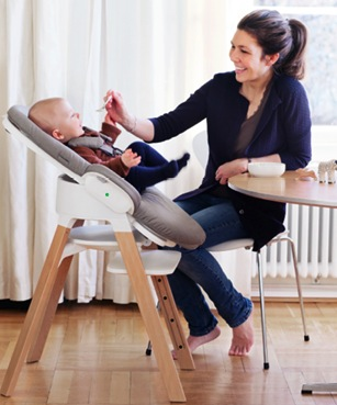 Stokke Steps - infant bouncer to highchair