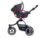 Stroller with recalled phil&teds infant seat adapters on it