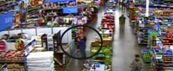 Surveillance footage at the walmart