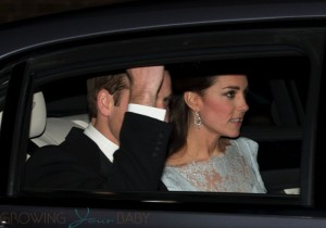 TRH The Duke and Duchess of Cambridge are seen leaving Kensington Palace for the Diplomatic reception at Buckingham Palace