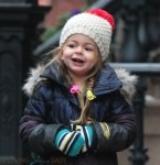 Tabitha Broderick walks home from school