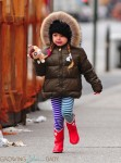 Tabitha (Loretta) Broderick on her way to school