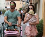 Tamara Ecclestone, Jay Rutland and daughter Sophia step out in St