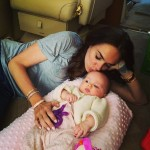 Tamara Ecclestone and daughter Sophia head to St
