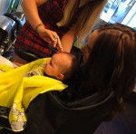 Tamara Ecclestone with daughter Sophia at hair salon