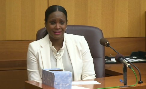 Tameka Foster in Court