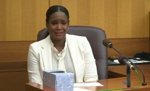 Tameka Foster in Court