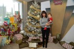 Tamera Mowry-Housley with son Aden Housley at Santa Secret Workshop
