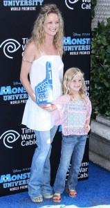 Teri Polo and Bayley Wollam at the world premiere of 'Monsters University' held at the El Capitan Theatre in Hollywood