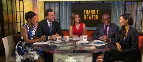 Thandie Newton on the todays show