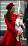 The Duchess of Cambridge arrive in New Zealand with Prince George