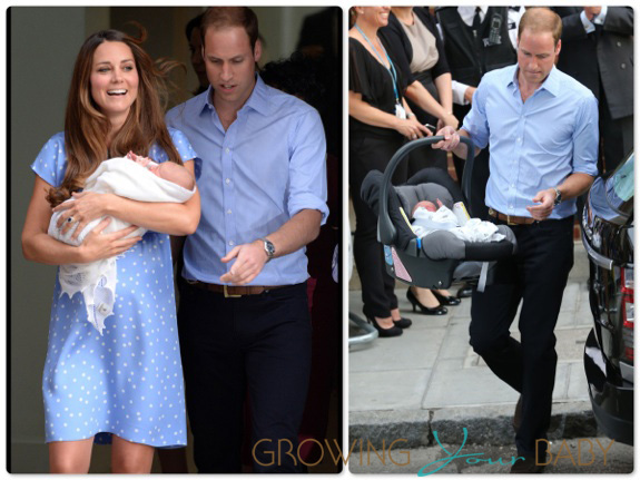 The Duke and Duchess of Cambridge debut their little Prince
