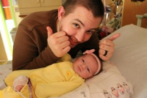 Theo Barbour with his daughter Brooklyn-Bree