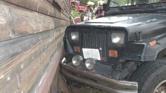 Three-year-old crashes Jeep into Oregon home