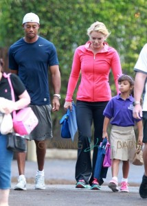 Tiger-WoodsLindsey-VonnSam-Woods-Charlie-Woods-at-school-