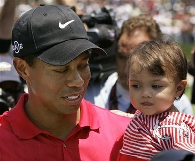 Tiger woods with daughter Sam torrey pines