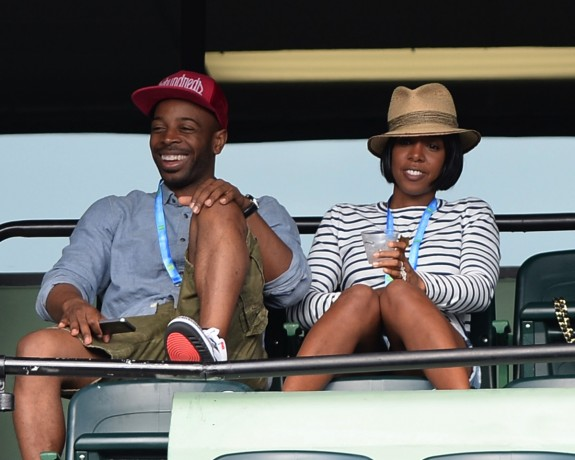 Tim Witherspoon and Kelly Rowland at US Open