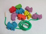 Tinocchio wooden lacing toys