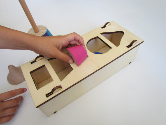 Tinocchio wooden sorting box