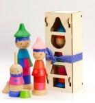 Tinocchio wooden stacking dolls