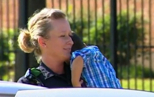Toddler found in car by stangers