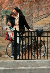 Tom Brady and son Benjamin @ the park in Boston
