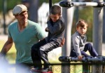 Tom Brady Takes His Sons To The Playground