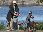 Tom Brady Takes His Boys to the Park