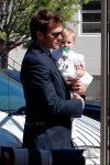 Tom Brady with daughter Vivian at her baptism