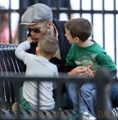 Tom Brady Plays with His Sons
