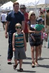 Tori Spelling and Dean McDermott at the Malibu market with their kids