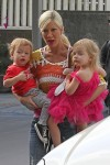 Tori Spelling out shopping with her kids Hattie and Finn