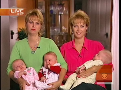 Twin Sisters Give Birth to Triplets