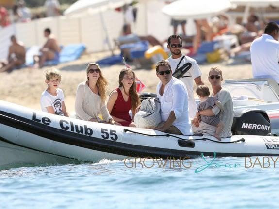 Uma Thurman Enjoys Family Trip to Saint Tropez