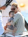 Uma Thurman Enjoys Family Trip to Saint Tropez