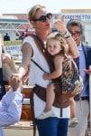 Uma Thurman arrives in Venice with daughter Luna