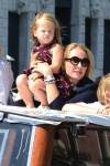 Uma Thurman cruises through Venice with daughter  Luna