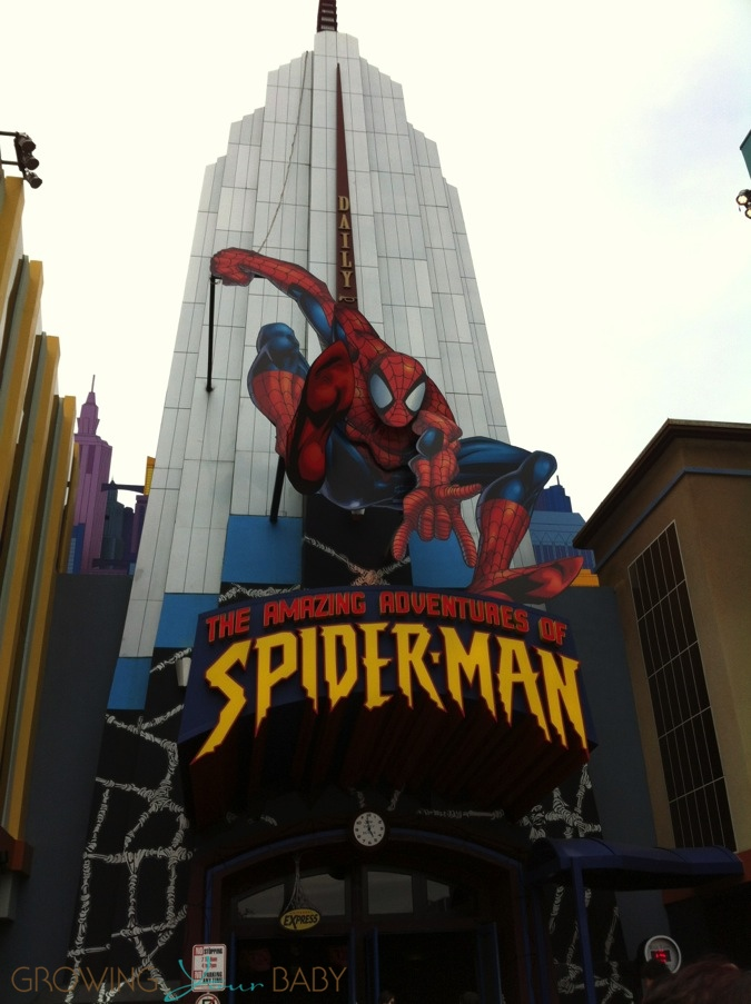 Britax Click Tight >> Universal Studios - Spiderman ride - Growing Your Baby