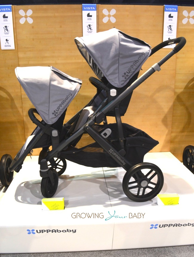 Uppababy 2014 Vista double stroller forward facing toddler ...