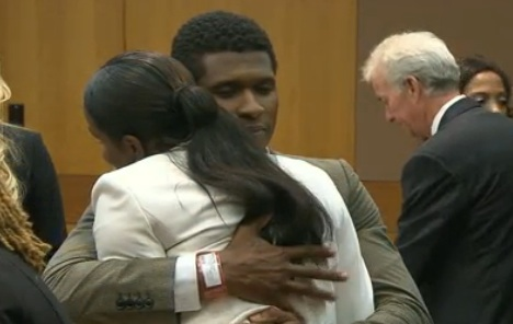 Usher Raymond and ex-wife Tameka Foster in court