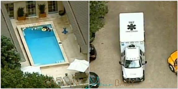 Usher's oldest son hospitalized after pool incident