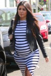 Very Pregnant Kourtney Kardashian out in LA