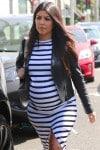 Very Pregnant Kourtney Kardashian out in LA