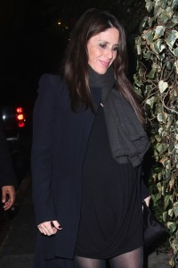Very pregnant Soleil Moon Frye leaving Chateau Marmont