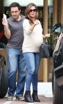 Very pregnant Vanessa Lachey out for lunch in LA